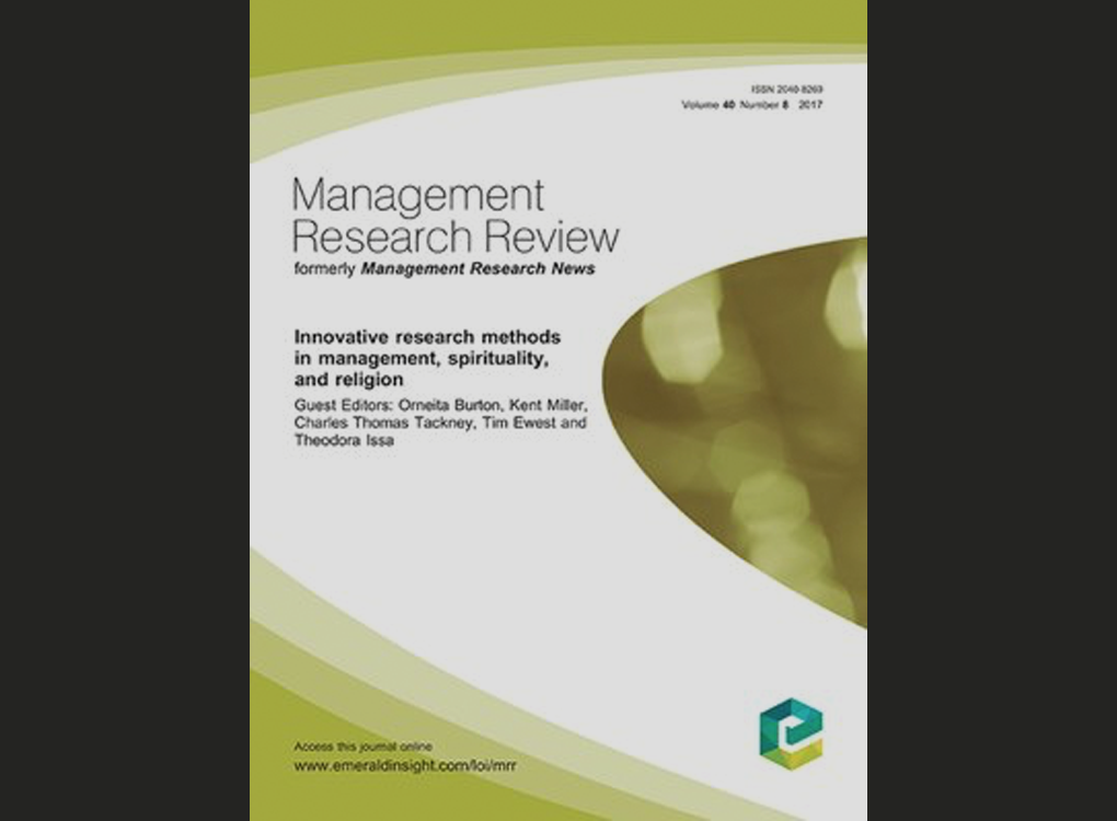 "Artikel: ""Straight from the heart: A clinical group intervention to research management spirituality"" (MRR)"